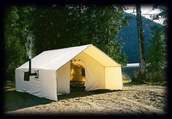 Deluxe wall tents free shipping in canada for Woods prospector tent