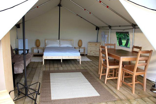 Deluxe wall tents used for comfort c&ing at Dinosaur Provincial Park in Alberta. & Customeru0027s Testimonials and Pictures