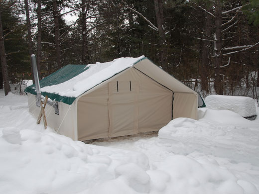 An insulated tent set up in Algonquin Provincial Park ON & Customeru0027s Testimonials and Pictures