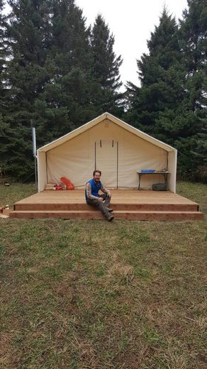 Andy Shapack of Toronto sent us these great pics of his tent u0026 platform setup. & Customeru0027s Testimonials and Pictures