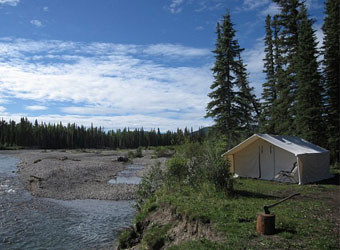tent-on-river