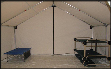 Cots stackable bunk cots for camping in tents for Homemade wall tent frame