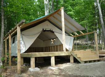 Used wall tents canvas tents and frames for How to build a canvas tent frame